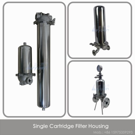 Stainless Steel 10 20 30 40 Inch Single Clamp Water Filter Housing with PP  Pleated Filter Element