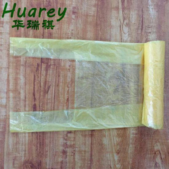 Disposable Garbage Bag Black Handle Ties Durable Portable Refuse Bag