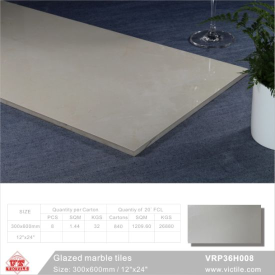 Building Material Marble Stone Glazed Polished Porcelain Floor Tile (VRP36H005, 300X600mm/12′′x24′′) pictures & photos