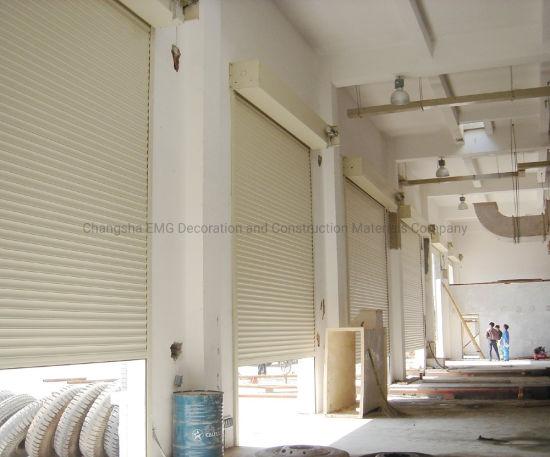 Steel Aluminum Metal Warehouse Power Automatic Overhead Rolling Roll up Roll-up Roller Shutter Security Garage Door