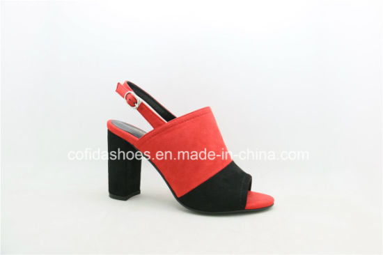 Sexy Block Heels Women Sandals for Fashion Lady pictures & photos
