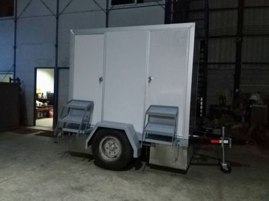 Portable Trailer Toilet with Wheel pictures & photos