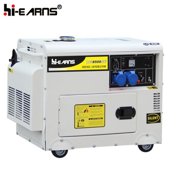 China 6kw Silver Color Silent Home Use Generator Dg8500se China