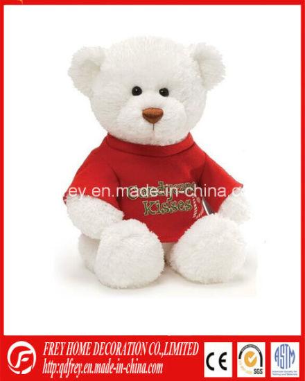 White Customized Plush Soft Tshirt Teddy Bear