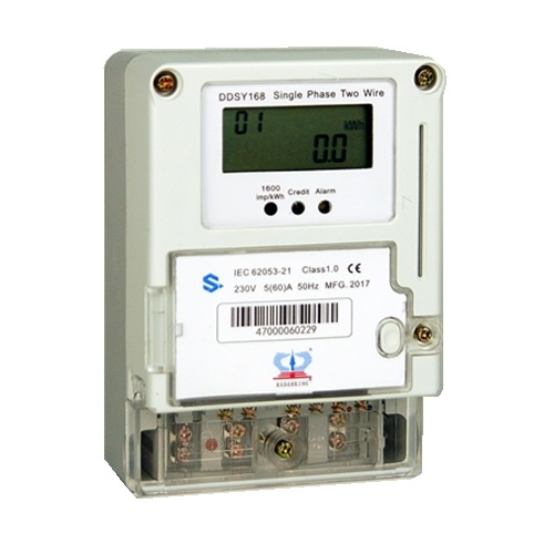 LCD / LED Display Single Phase Prepayment Electric Energy Meter