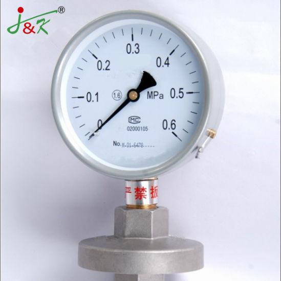 Hot Sales Diaphragm-Seal Pressure Gauge Manometer with Accuracy 1.6%