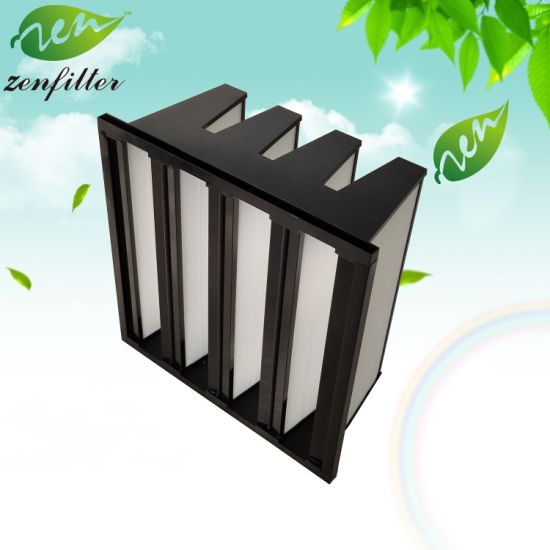 V-Bank Air Filter for Gas Turbine and Compressor Air Filtration System