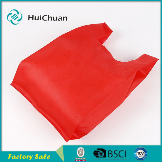 Cheap Non Woven Ultrasonic Supermarket Bag T-Shirt Bag pictures & photos