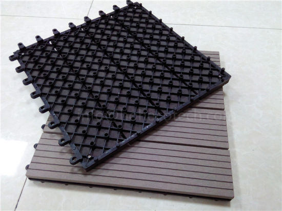 WPC Interlocking DIY Decking Tile for Garden pictures & photos