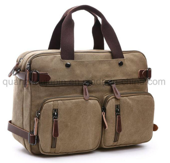 OEM Fashion Canvas Backpack Laptop Tote Bag Portfolio Briefcase pictures & photos