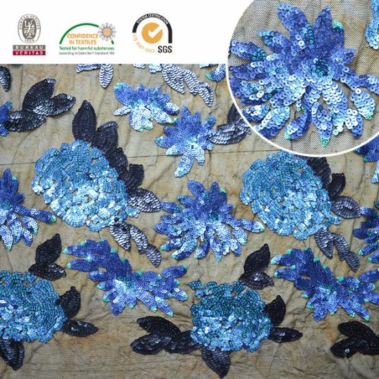 Hot Sale Sequins Embroidery Fabric Lace