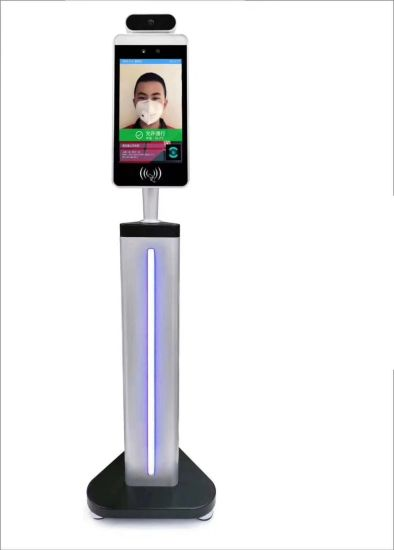 Face Recognition System Facial Recognition Terminal for Turnstile Gate Door Access Control Biometric Time Attendance with IP Camera and Infrared Thermometer pictures & photos