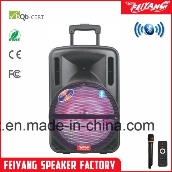 Hot Sale Rechargeable Different Colour Bluetooth Speaker with Trolley--F12-1 pictures & photos