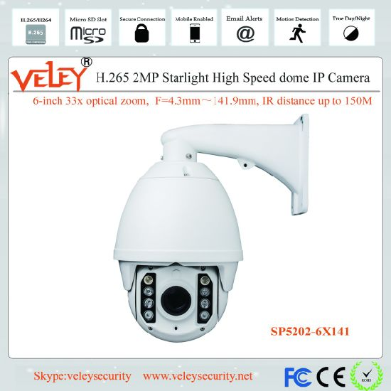 33X 360 Degree Night Vision Auto-Tracking PTZ IP Speed Dome pictures & photos