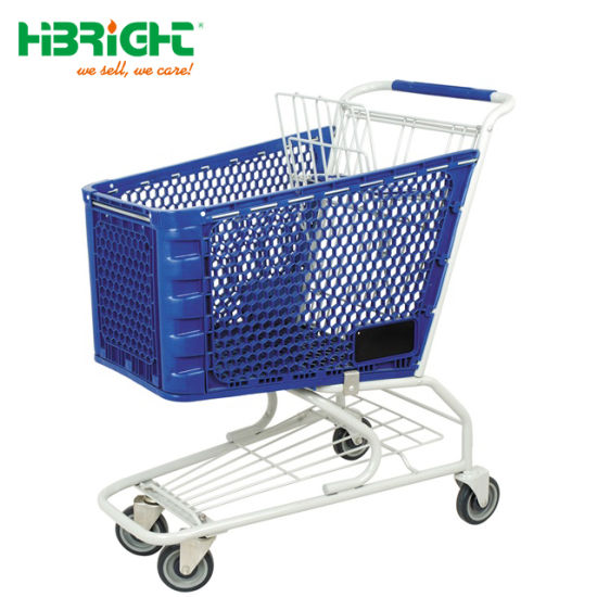 2018 Wholesale Foldable Plastic Shopping Trolley for Supermarket pictures & photos