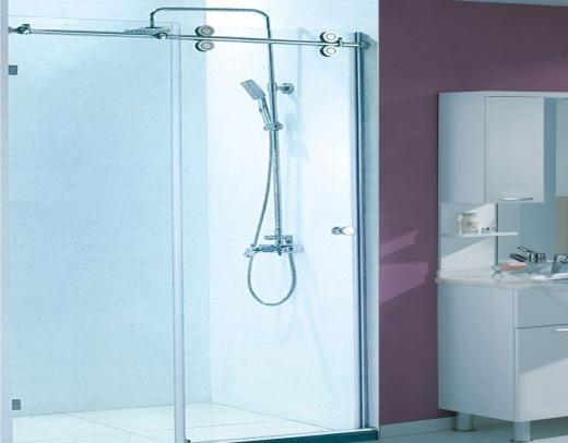 Clear Tempered Frameless Shower Door Glass Hardware