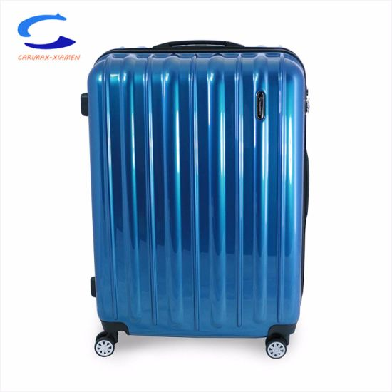"China New Rush 30"" Blue PC Hardside Surface Finished Large Capacity Spinner Wheel Suitcase Carry on Easy Travel Equipment Choice Tsa Approved Trolley Luggage pictures & photos"