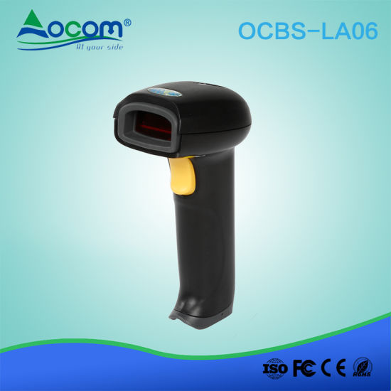 China Handheld Auto Sense Laser Barcode Scanner with Stand