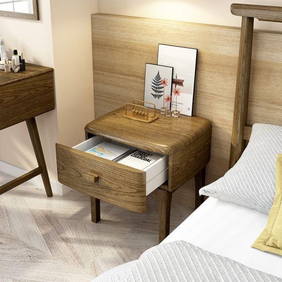 Modern Wood Furniture Bedroom Set Solid Wooden Bed For Home