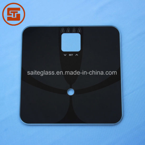 Customized ITO Electronic Weighing Fat Body Bathroom Scale Top Panel