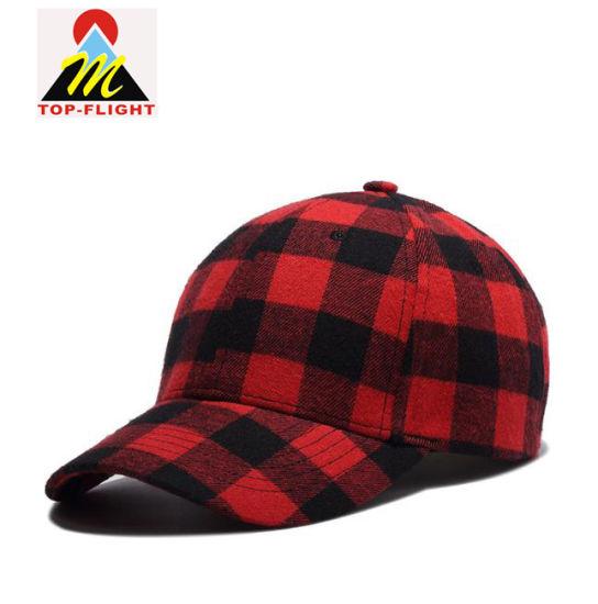 OEM Fashion Checks 6 Panel Baseball Cap with Custom Logo