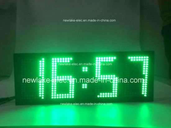 IP65 Outdoor Large Size LED Clock Temperature Display (Green) pictures & photos