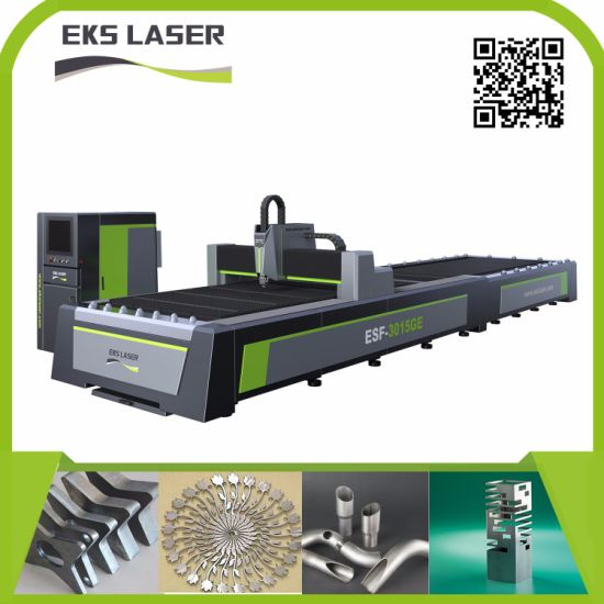 Fiber Laser Cutting Machine by Automatic Loading System to Processing Metal Sheet Plate and Tube