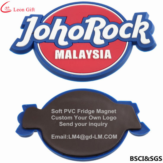 Factory Custo Logo Promotion Gifts PVC Rubber Fridge Magnet pictures & photos