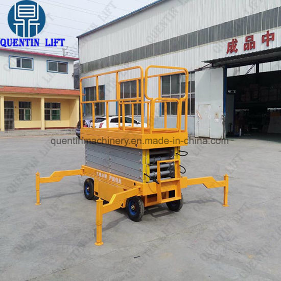 Building Maintenance Mobile Hydraulic Electric Scissor Lift Ladder