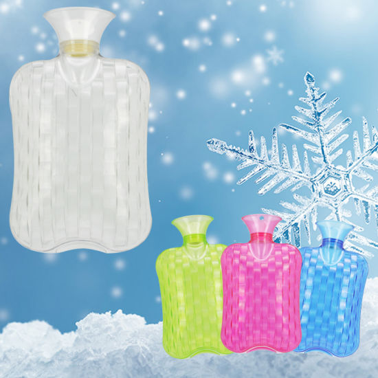 2 Liters Thermoplastic PVC Transparent Hot Water Bottle