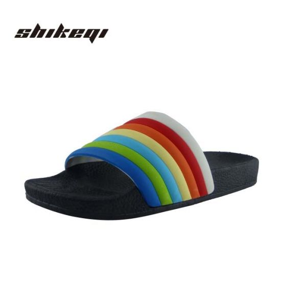 6b87eeea Custom Women Flat Beach Sandals Slipper Latest Ladies Slippers Shoes and  Sandals