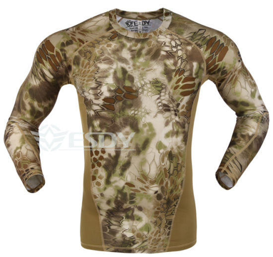 Yellow Python Tactical Elastic Speed Dry Long Sleeve Suit pictures & photos
