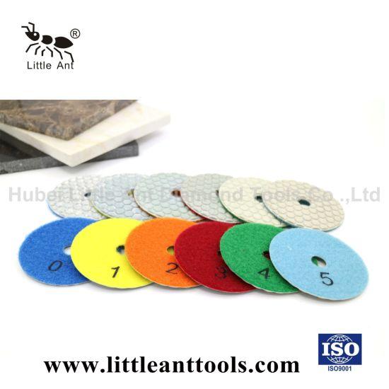 China Hot Press Flexible Resin Diamond Dry Polishing Pad for