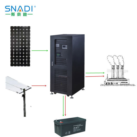 10kw/15kw/20kw/40kw Three-Phase Hybrid Solar Power Inverter System pictures & photos