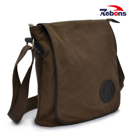 0a971b13a8 Hot Selling Rugged Trimmings Canvas Portfolio Men Blank Large Heavy Shoulder  Messenger Bag pictures   photos