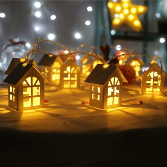 China Small House Table Lamp Christmas Tree For Christmas Decoration