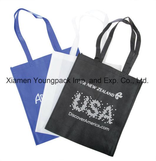 Promotional Custom Printed Eco Friendly Reusable Black Cloth Bags