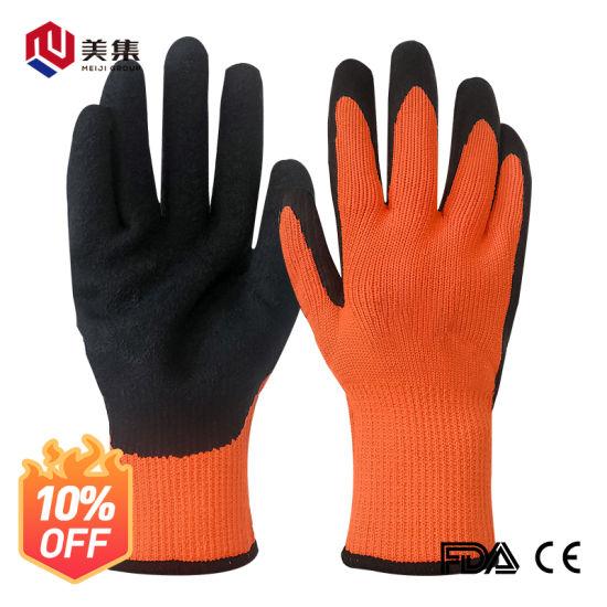 Custom Universal Latex Acrylic Winter Working Safety Gloves