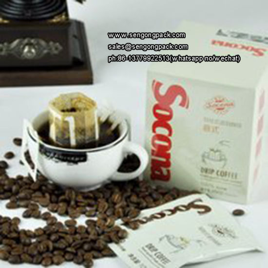 Ultrasonic Charcoal Drip Coffee Packaging Machine with Outer Envelope pictures & photos