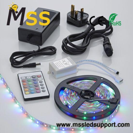 5m RGB 5050 60 LEDs 24 Keys 12V LED Strip Light Kit
