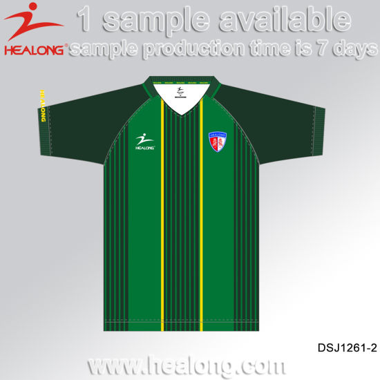 Healong Sportswear Sublimated Wholesale Blank Uniform Shirt Football Jerseys pictures & photos