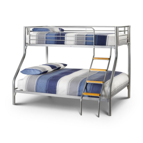 China Triple Sleeper Bunk Bed Frame Double On Bottom Single On Top