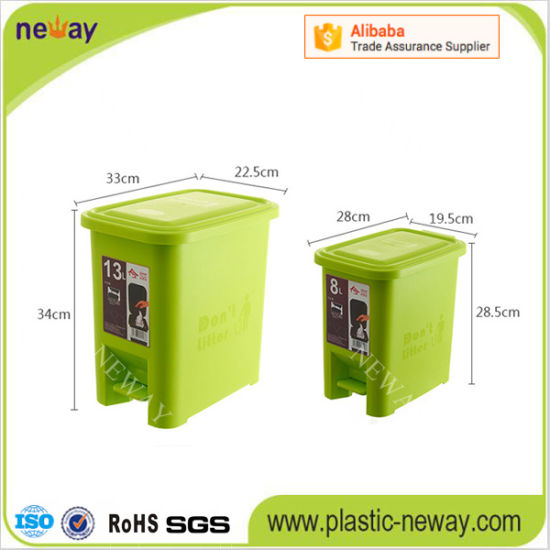 Indoor Press Plastic Trash Can pictures & photos