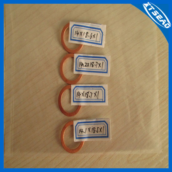 Copper Gasket Copper Washer Copper Sealing Ring pictures & photos
