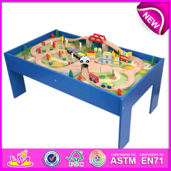 2014 Wooden Railway Train Toy for Kids Funny Wooden Railway Train Set for Children Roller Coaster Track Table for Baby Factory W04c009  sc 1 st  Wenzhou Times Co. Ltd. & China 2014 Wooden Railway Train Toy for Kids Funny Wooden Railway ...