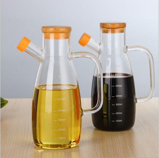 Safe Material High Borosilicate Kitchenware Glass Oil Bottle