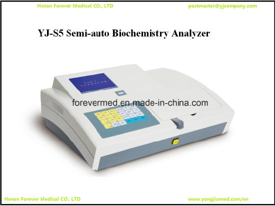 Semi Auto Medical Equipment Biochemistry Analyzer Laboratory Biochemistry Yj-S5 pictures & photos