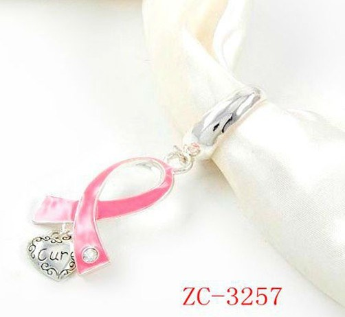 Sc-3257 Breast Cancer Pink Ribbon Loving Heart Scarf Accessories