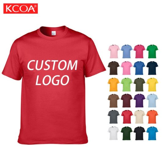 Wholesale Plus Size Custom Logo Graphic Printing Blank Plain Men Cotton T Shirt