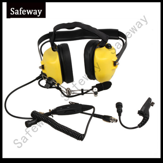 Two Way Radio Aviation Noise Cancelling Headset for Motorola Apx7000